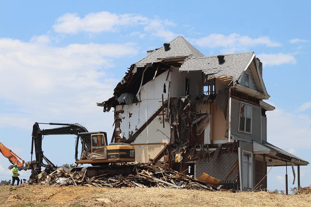 Knock down rebuild demolition